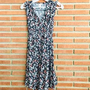 H&M MAMA floral dress maternity XS viscose